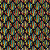 Άνευ ραφής σχέδιο με τα ριγωτά rhombuses διανυσματική απεικόνιση