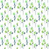 Άνευ ραφής σχέδιο με τα τυποποιημένα θερινά λουλούδια Στοκ φωτογραφία με δικαίωμα ελεύθερης χρήσης