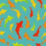 Άνευ ραφής σχέδιο με τα ψάρια koi Τελειοποιήστε για τις ταπετσαρίες, υπόβαθρα ιστοσελίδας, συστάσεις επιφάνειας, κλωστοϋφαντουργι ελεύθερη απεικόνιση δικαιώματος