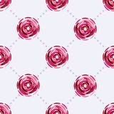 Άνευ ραφής σχέδιο με τα όμορφα ρόδινα λουλούδια Στοκ Φωτογραφία