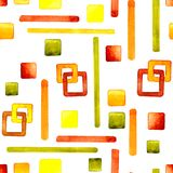 Άνευ ραφής σχέδιο με την εικόνα αριθμοί Απεικόνιση κινούμενων σχεδίων Watercolor για το σχέδιο των τυπωμένων υλών, αυτοκόλλητες ε ελεύθερη απεικόνιση δικαιώματος