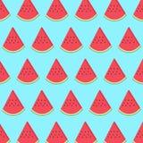 Άνευ ραφής σχέδιο με τη φέτα καρπουζιών Στοκ Φωτογραφίες