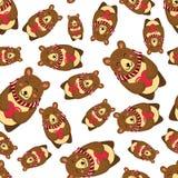 Άνευ ραφής σχέδιο με τη teddy διανυσματική απεικόνιση αρκούδων Στοκ φωτογραφία με δικαίωμα ελεύθερης χρήσης