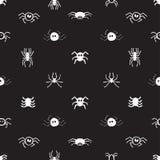 Άνευ ραφής σχέδιο με τις αράχνες Στοκ εικόνες με δικαίωμα ελεύθερης χρήσης