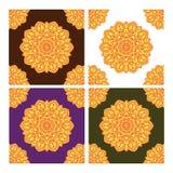Άνευ ραφής σχέδιο με τις διακοσμήσεις τέχνης mandala Mandala στο ύφος της αραβικής τέχνης διανυσματική απεικόνιση
