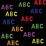 Άνευ ραφής σχέδιο με τις επιστολές abc Στοκ Φωτογραφία