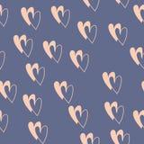 Άνευ ραφής σχέδιο με τις ζωηρόχρωμες καρδιές για την ημέρα βαλεντίνων διάνυσμα ελεύθερη απεικόνιση δικαιώματος