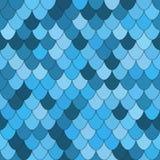 Άνευ ραφής σχέδιο με τις ζωηρόχρωμες μπλε κλίμακες ελεύθερη απεικόνιση δικαιώματος