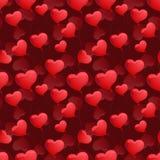 Άνευ ραφής σχέδιο με τις καρδιές στο υπόβαθρο Στοκ Φωτογραφία