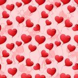 Άνευ ραφής σχέδιο με τις καρδιές στο υπόβαθρο Στοκ φωτογραφία με δικαίωμα ελεύθερης χρήσης