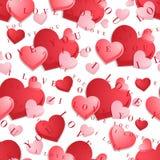 Άνευ ραφής σχέδιο με τις καρδιές στο υπόβαθρο Στοκ Φωτογραφίες