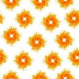 Άνευ ραφής σχέδιο με τις μορφές θερινών ήλιων Διανυσματική απεικόνιση σε ένα άσπρο υπόβαθρο Στοκ Εικόνες