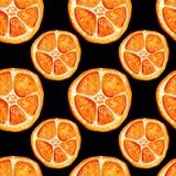 Άνευ ραφής σχέδιο με τις πορτοκαλιές φέτες ελεύθερη απεικόνιση δικαιώματος