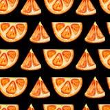 Άνευ ραφής σχέδιο με τις πορτοκαλιές φέτες απεικόνιση αποθεμάτων