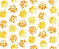 Άνευ ραφής σχέδιο με τις σφραγίδες των πικραλίδων Στοκ Εικόνες
