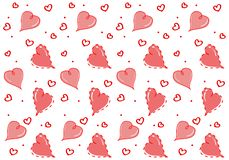 Άνευ ραφής σχέδιο με τον εραστή καρδιών Απομονώστε στην άσπρη ανασκόπηση απεικόνιση αποθεμάτων