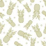 Άνευ ραφής σχέδιο με τους ανανάδες καρπός τροπικός ελεύθερη απεικόνιση δικαιώματος