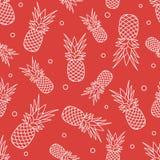 Άνευ ραφής σχέδιο με τους ανανάδες καρπός τροπικός απεικόνιση αποθεμάτων