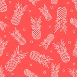 Άνευ ραφής σχέδιο με τους ανανάδες καρπός τροπικός διανυσματική απεικόνιση
