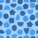 Άνευ ραφής σχέδιο με τους κόμβους σχοινιών Μπλε θαλάσσιο υπόβαθρο Στοκ φωτογραφία με δικαίωμα ελεύθερης χρήσης