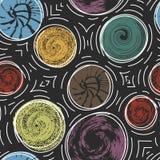 Άνευ ραφής σχέδιο με τους στρογγυλούς κατασκευασμένους λεκέδες Στοκ Εικόνα
