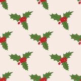 Άνευ ραφής σχέδιο με το γκι Χριστουγέννων Στοκ φωτογραφία με δικαίωμα ελεύθερης χρήσης