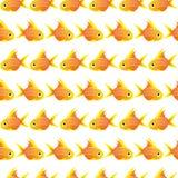 Άνευ ραφής σχέδιο με το μεγάλο goldfish διάνυσμα Στοκ Εικόνα