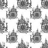 Άνευ ραφής σχέδιο με το σαλιγκάρι διασκέδασης διάνυσμα απεικόνιση αποθεμάτων