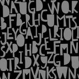 Άνευ ραφής σχέδιο με το abc ή το αλφάβητο Στοκ Εικόνα