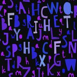 Άνευ ραφής σχέδιο με το abc ή το αλφάβητο Στοκ εικόνες με δικαίωμα ελεύθερης χρήσης