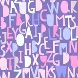Άνευ ραφής σχέδιο με το abc ή το αλφάβητο Στοκ φωτογραφίες με δικαίωμα ελεύθερης χρήσης