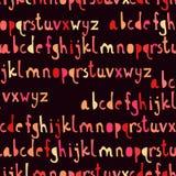Άνευ ραφής σχέδιο με το abc ή το αλφάβητο Στοκ Εικόνες