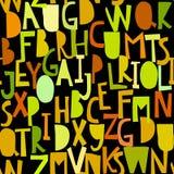 Άνευ ραφής σχέδιο με το abc ή το αλφάβητο Στοκ εικόνα με δικαίωμα ελεύθερης χρήσης