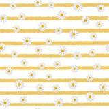 Άνευ ραφής σχέδιο με chamomile στις οριζόντιες γραμμές διάνυσμα απεικόνιση αποθεμάτων
