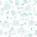 Άνευ ραφής σχέδιο με crypto τα σχετικά με το curency στοιχεία διανυσματική απεικόνιση