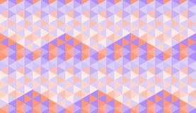 Άνευ ραφής σχέδιο με hexagons που αποτελούνται από τα πορφυρά και πορτοκαλιά τρίγωνα στο σκοτάδι στις ελαφριές σκιές Διανυσματική απεικόνιση