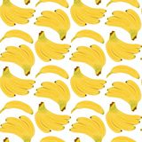 Άνευ ραφής σχέδιο μπανανών διανυσματική απεικόνιση