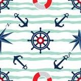 Άνευ ραφής σχέδιο ναυτικών πανιών βαρκών Στοκ εικόνα με δικαίωμα ελεύθερης χρήσης