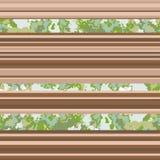 Άνευ ραφής σχέδιο οριζόντιων γραμμών καφετί διάνυσμα ανασκόπησ απεικόνιση αποθεμάτων