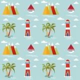 Άνευ ραφής σχέδιο παιδιών με το θαλάσσιο θέμα o ελεύθερη απεικόνιση δικαιώματος