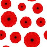Άνευ ραφής σχέδιο παπαρουνών background poppies red white Μπορέστε να χρησιμοποιηθείτε για το κλωστοϋφαντουργικό προϊόν, τις ταπε απεικόνιση αποθεμάτων