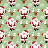 Άνευ ραφής σχέδιο περιόδου διακοπών Χριστουγέννων με Άγιο Βασίλη απεικόνιση αποθεμάτων