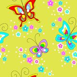 Άνευ ραφής σχέδιο πεταλούδων Χαριτωμένο σχέδιο για τα κλωστοϋφαντουργικά προϊόντα, ιματισμός των παιδιών, κάρτες r απεικόνιση αποθεμάτων