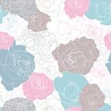 Άνευ ραφής σχέδιο που γεμίζουν εντελώς με τα τριαντάφυλλα απεικόνιση αποθεμάτων