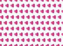Άνευ ραφής σχέδιο, ρόδινα μπαλόνια καρδιών Στοκ φωτογραφία με δικαίωμα ελεύθερης χρήσης