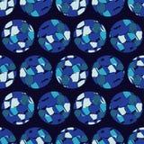 Άνευ ραφής σχέδιο σημείων Πόλκα Σύσταση σημείων 3d balls Στοκ Εικόνες