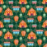 Άνευ ραφής σχέδιο σκηνών τσίρκων Στοκ εικόνες με δικαίωμα ελεύθερης χρήσης