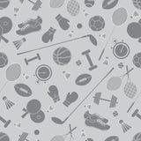 Άνευ ραφής σχέδιο στο αθλητικό θέμα Διανυσματικός αθλητισμός απεικόνισης Στοκ Φωτογραφίες