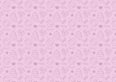 Άνευ ραφής σχέδιο στο εικονίδιο ύφους γραμμών με διάνυσμα θέματος παιχνιδιών μωρών το editable resizable πλήρως στο μαλακό μπλε χ απεικόνιση αποθεμάτων