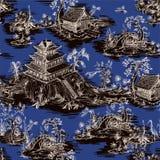 Άνευ ραφής σχέδιο στο ύφος chinoiserie για το ύφασμα ή το εσωτερικό σχέδιο διανυσματική απεικόνιση